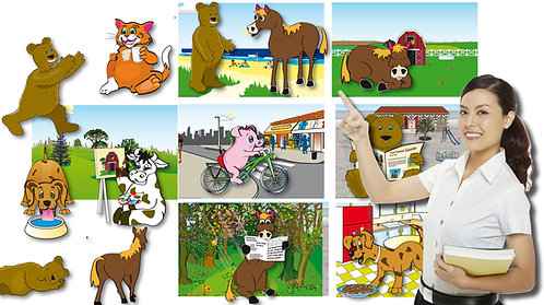 Animal Cut-Outs Game