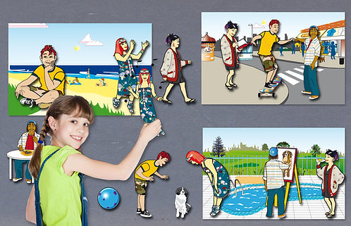Character Cut-Outs Game