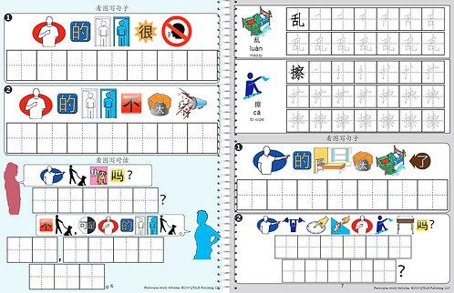 """""""我爱说中文""""树苗汉字练习册 Sapling Workbook"""