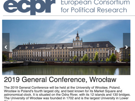 ECPR General Conference, Wrocław 2019