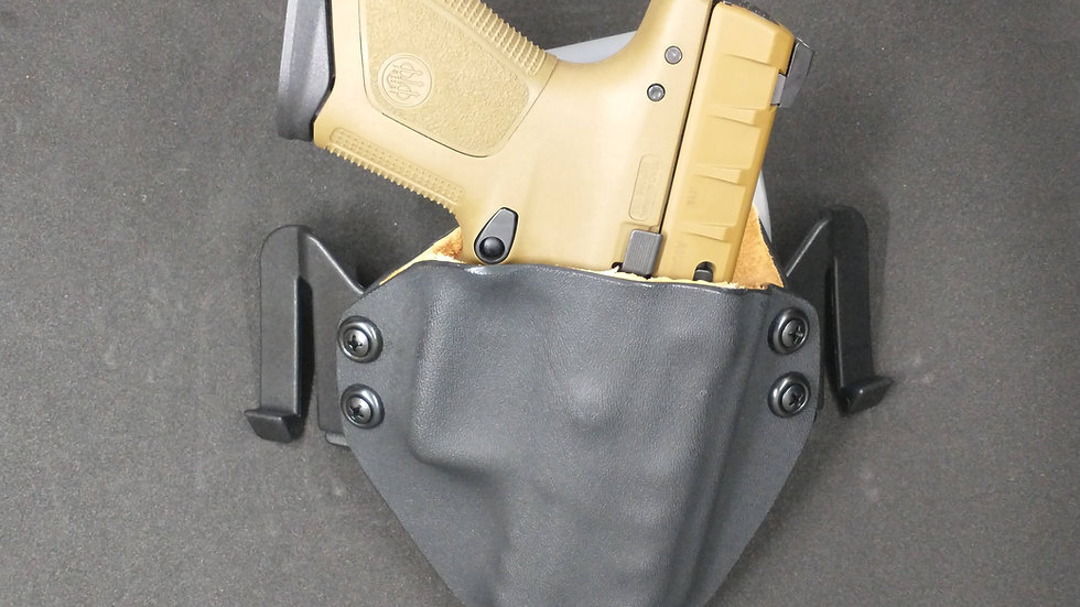 OWB Holster with leather lining