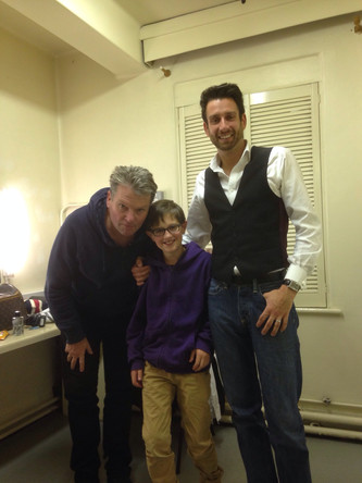 Backstage aged 11 at the Dominion Theatre with heroes Jamie Raven and Russ Stevens