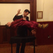 Levitating in rehearsal with Jamie Raven - I was lighter then...