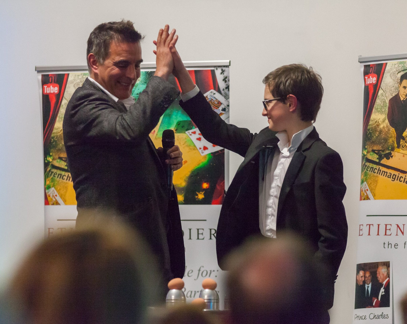 On stage with Etienne Pradier - the French Magician