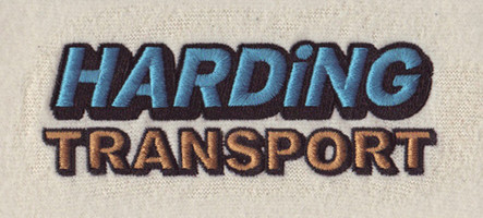 Harding Transport Embroidery