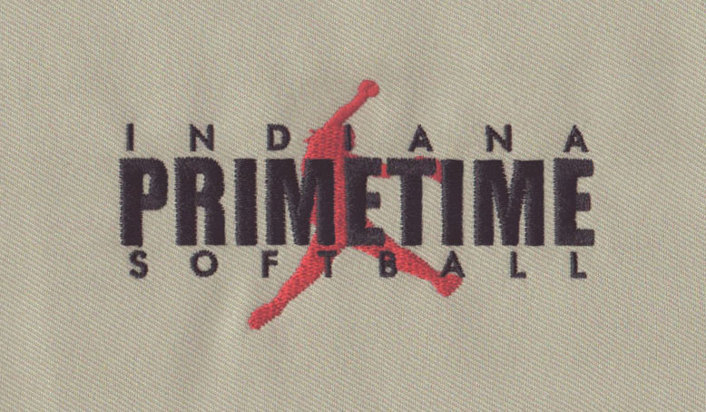 Primetime Softball Pitcher Embroidery