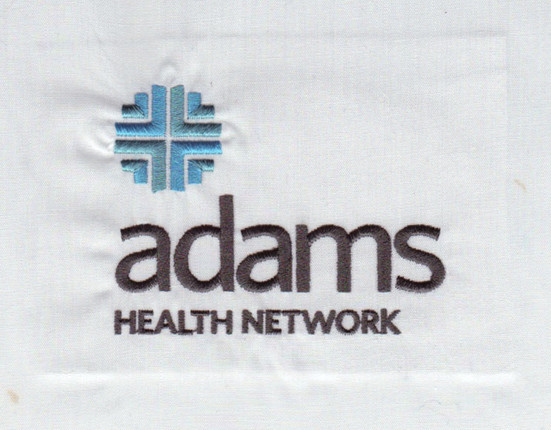 adams Health Network Embroidery