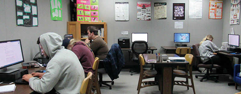 The Writing Center in Al Harris B3 (basement).