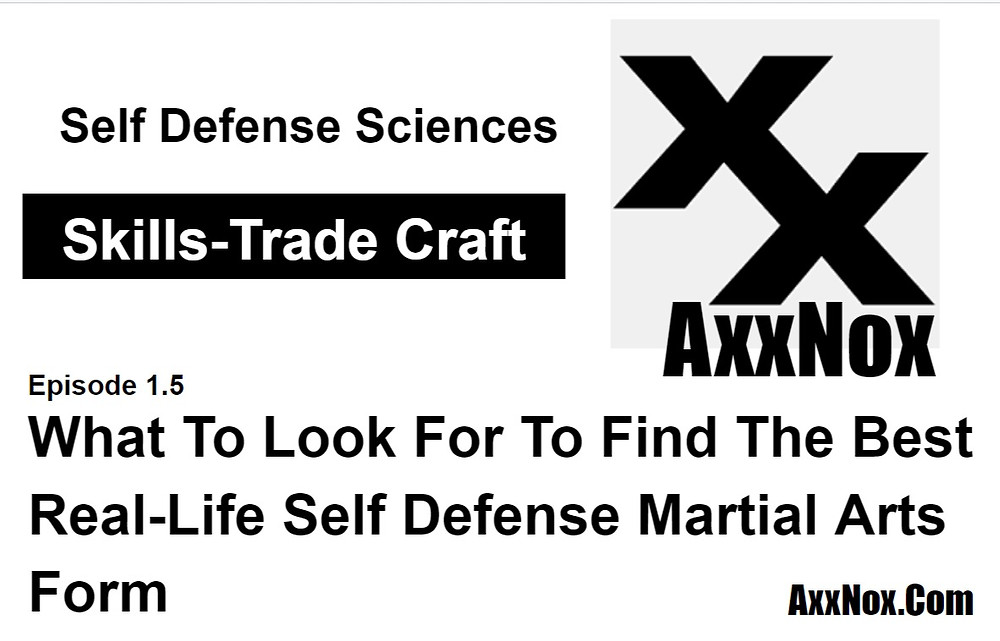 What To Look For To Find The Best Real-Life Self Defense Martial Arts Form