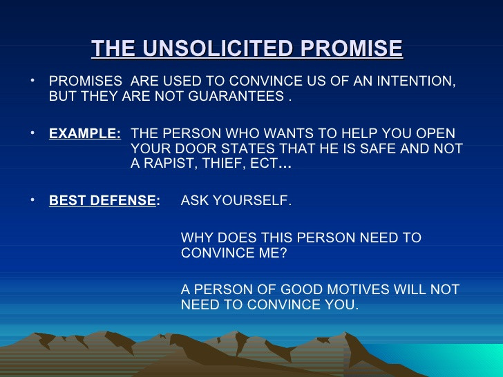 Unsolicited Promises