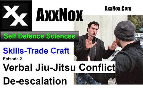 Conflict De-escalation Verbal Jiu-JitsuSelf Defense Reality-BasedTraining Class