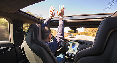 Self-driving car is nothing like our hands-on government - keep your hands on the wheel