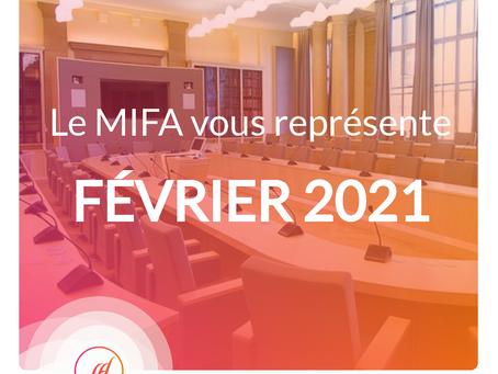 Le MIFA au rapport - Février 2021
