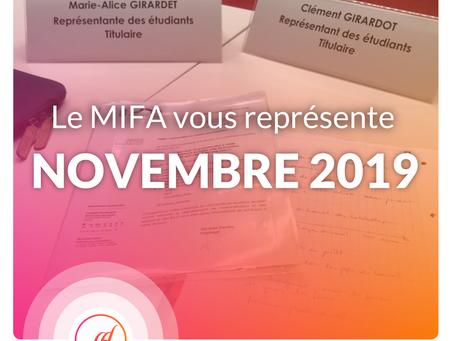 Le MIFA au rapport ! - NOVEMBRE (1/2)