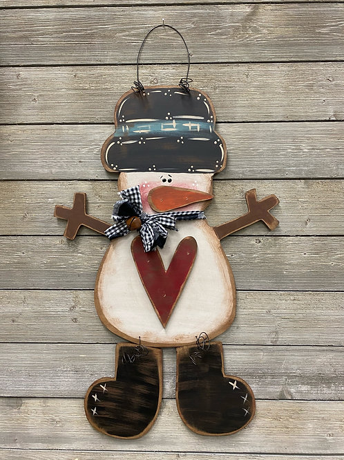Snowman Love Door Charm