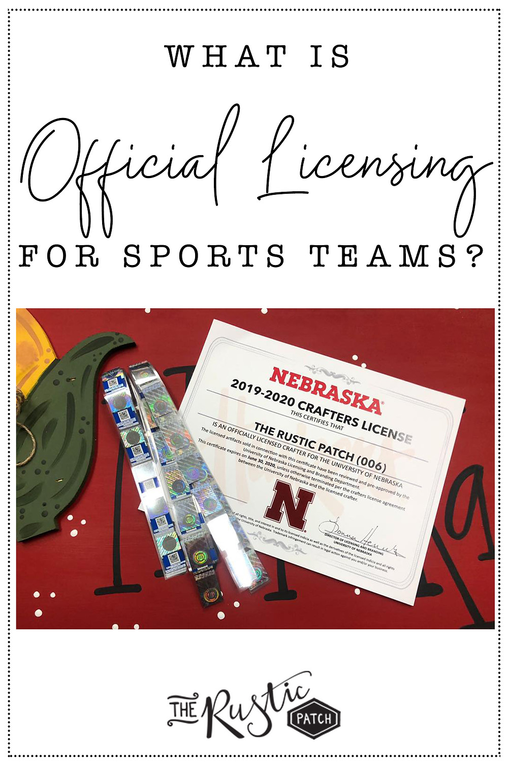 The Rustic Patch Is Officially Licensed to Sell A Handful of Nebraska Huskers Products