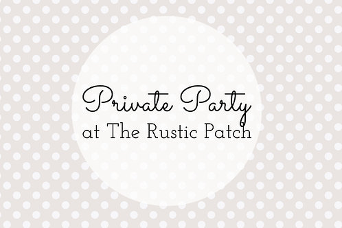 Host Private Party Deposit
