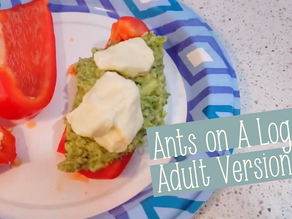 Fancy Food Friday: Adult Ants on a Log