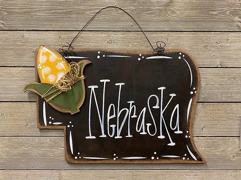 Nebraska + Corn Cob State Door Charm