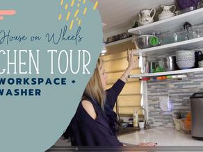 Tiny House Storage + Organization Tour: Kitchen Prep Area + Dishwasher
