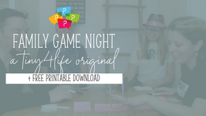 Family Game Night + FREE Downloads for Your Own Game Night