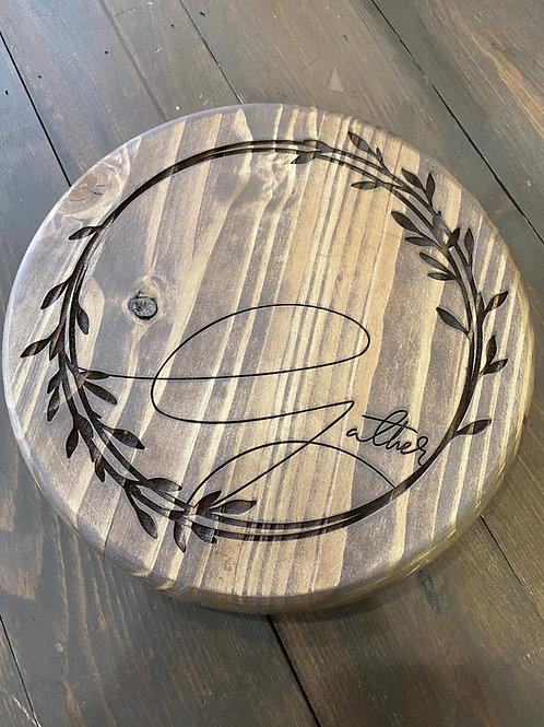 Laser Engraved Wood Trivet