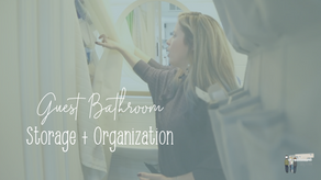 Our Tiny House Guest Bathroom Storage + Organization