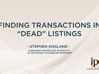 "Finding Transactions in ""Dead"" Listings"