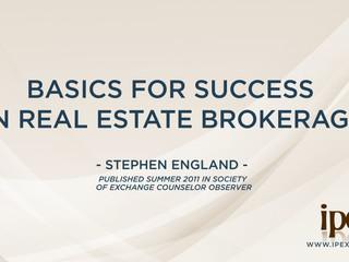 Basics for Success in Real Estate Brokerage