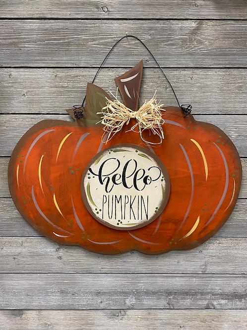 Hello Pumpkin Rustic Door Charm