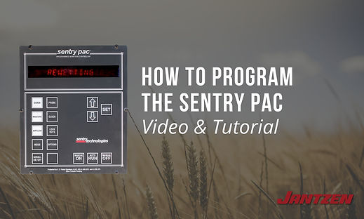 How to Program the Sentry PAC Grain Stor