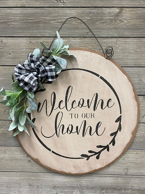 Welcome To Our Home Rustic Door Charm