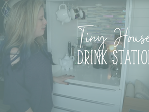 Tiny House Drink Station: Ikea Cabinet Hack