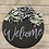 Thumbnail: Welcome Wreath with Greenery (Grey Lettering)