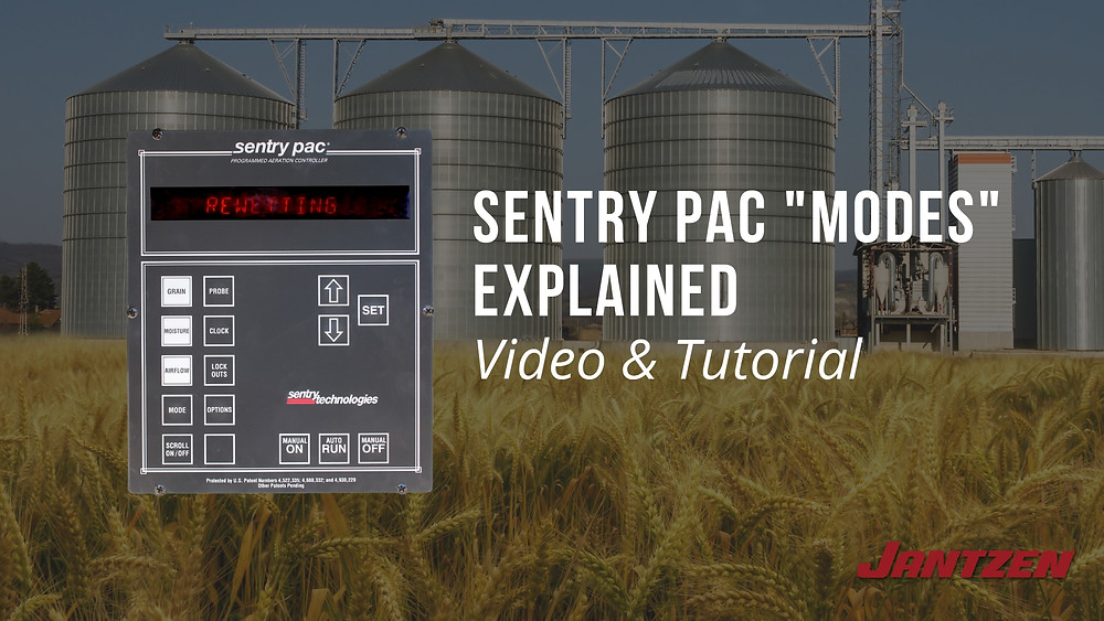 Sentry PAC Grain Storage System Modes Explained by  Jantzen Equipment