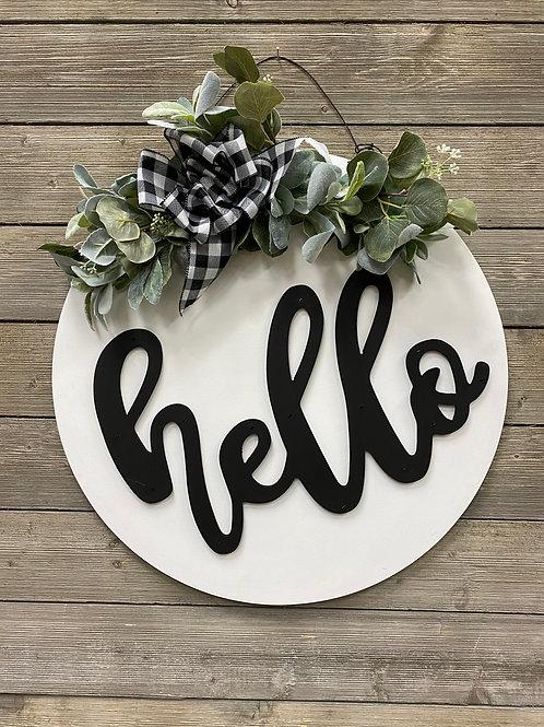 """""""Hello"""" Door Charm + Eucalyptus"""