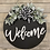 Thumbnail: Welcome Wreath with Greenery (White Lettering)