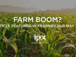 Farm Boom? Article featured in Kearney Hub May 2011