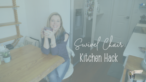 Tiny House Kitchen Hack - A Swivel Chair!