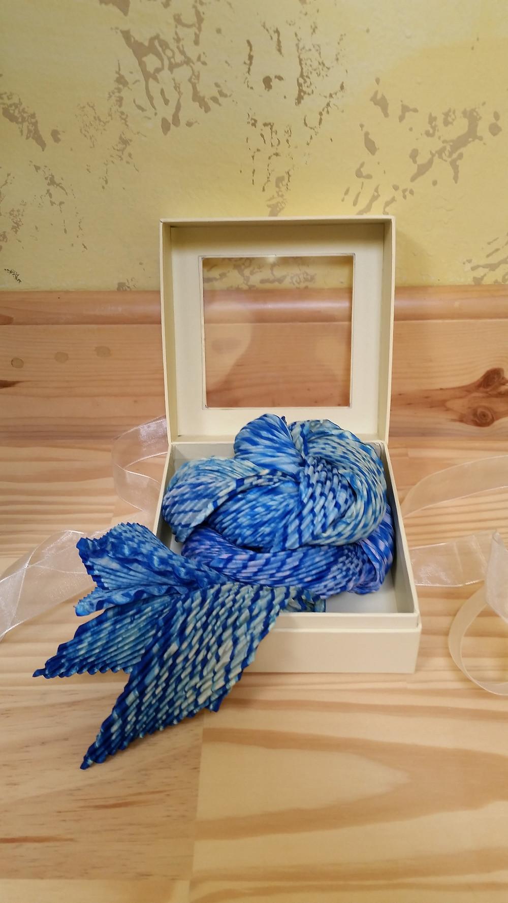 Multicolor arashi shibori scarf