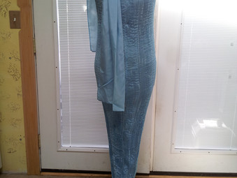Blue Diva Silk Gown Takes Shape
