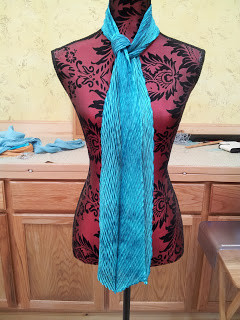 Shibori with a twist pattern