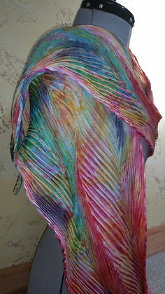 Shibori Pleated Rainbow