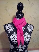 Shibori chevron scarf