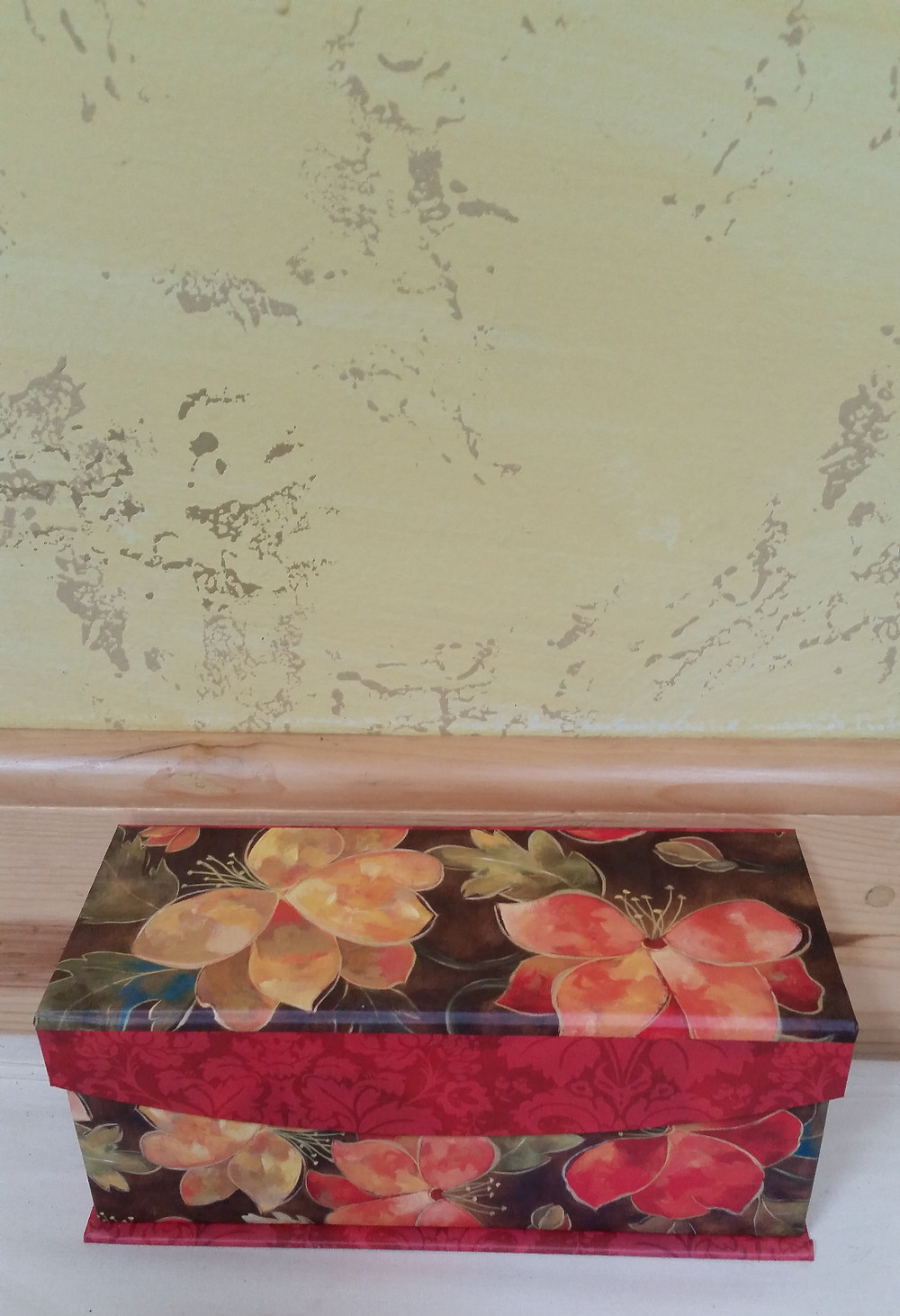 beautiful shibori scarf box