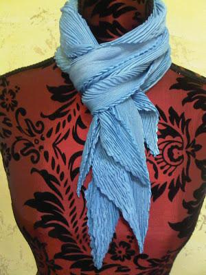 Blue arashi shibori scarf