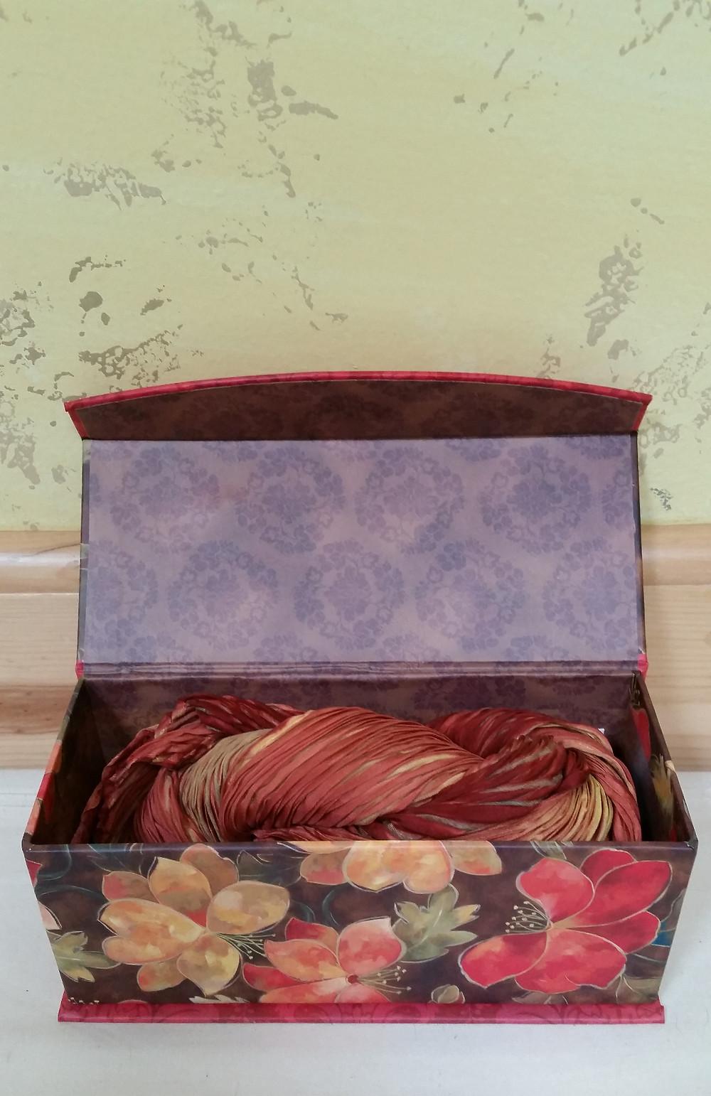 Shibori scarf and it's box