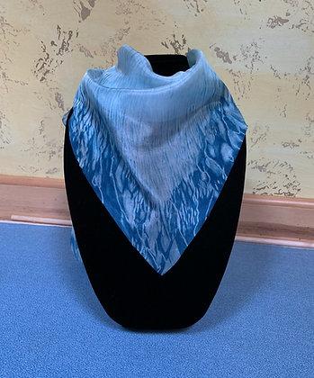 Blue beauty silk indigo scarf