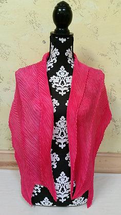 Hot Pink Shibori Pleated