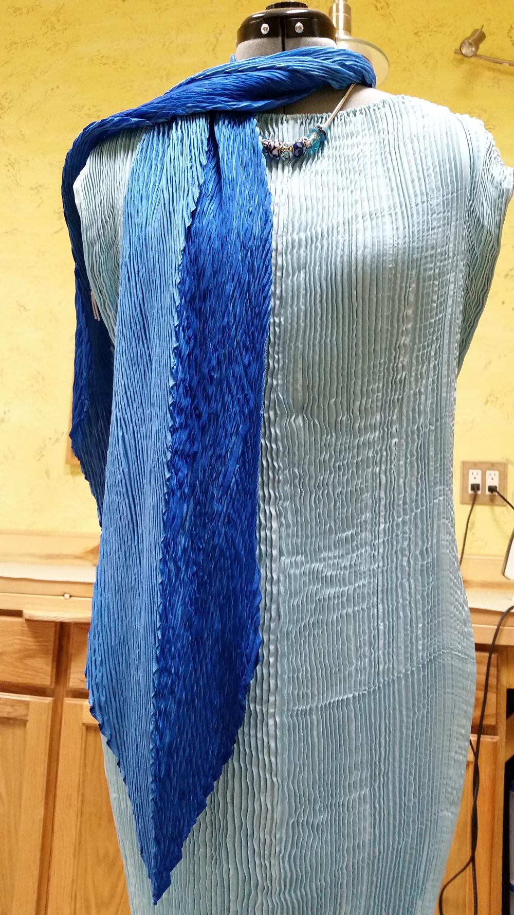 dramatic arashi shibori scarf